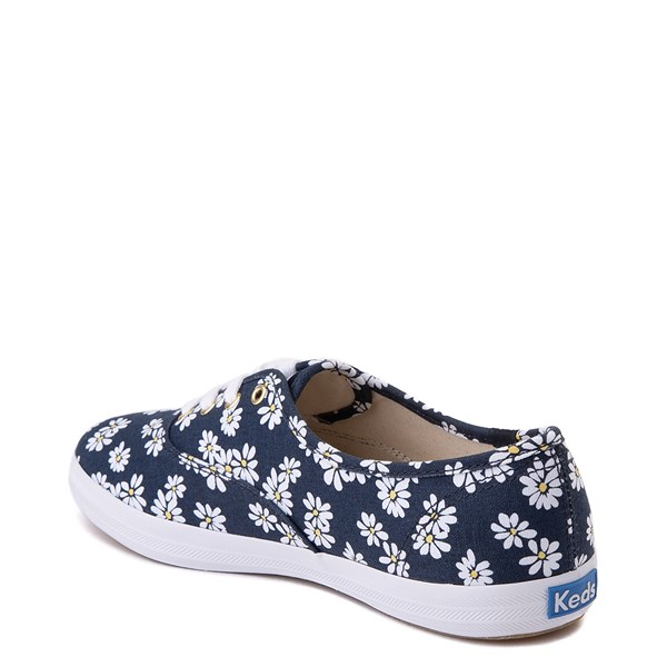 alternate view Womens Keds Champion Original Casual Shoe - Navy/FloralALT2