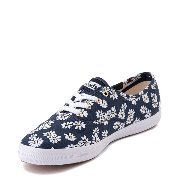alternate view Womens Keds Champion Original Casual Shoe - Navy/FloralALT3