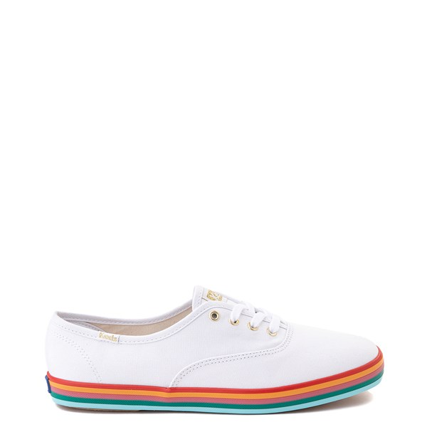 Womens Keds Champion Rainbow Original Casual Shoe - White / Multi