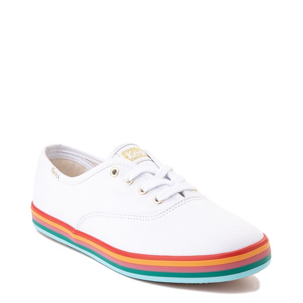 alternate view Womens Keds Champion Rainbow Original Casual Shoe - White / MultiALT1