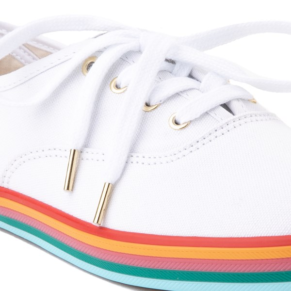 alternate view Womens Keds Champion Rainbow Original Casual Shoe - White / MultiALT1B