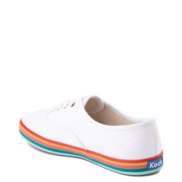 alternate view Womens Keds Champion Rainbow Original Casual Shoe - White / MultiALT2