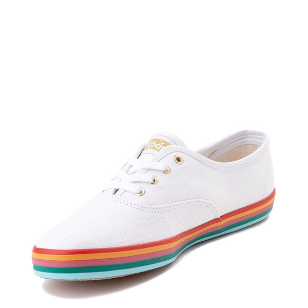 alternate view Womens Keds Champion Rainbow Original Casual Shoe - White / MultiALT3