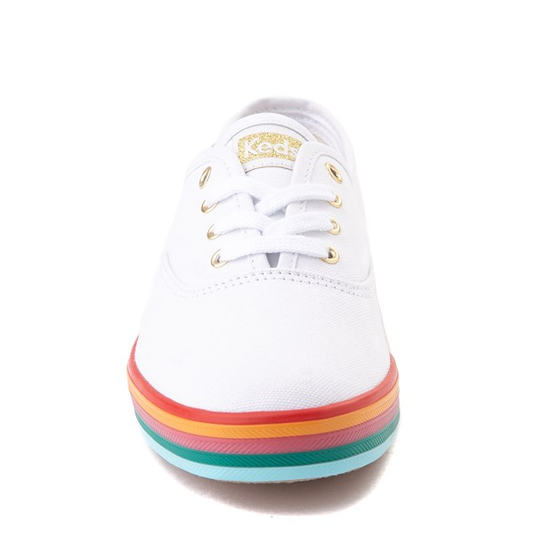 alternate view Womens Keds Champion Rainbow Original Casual Shoe - White / MultiALT4