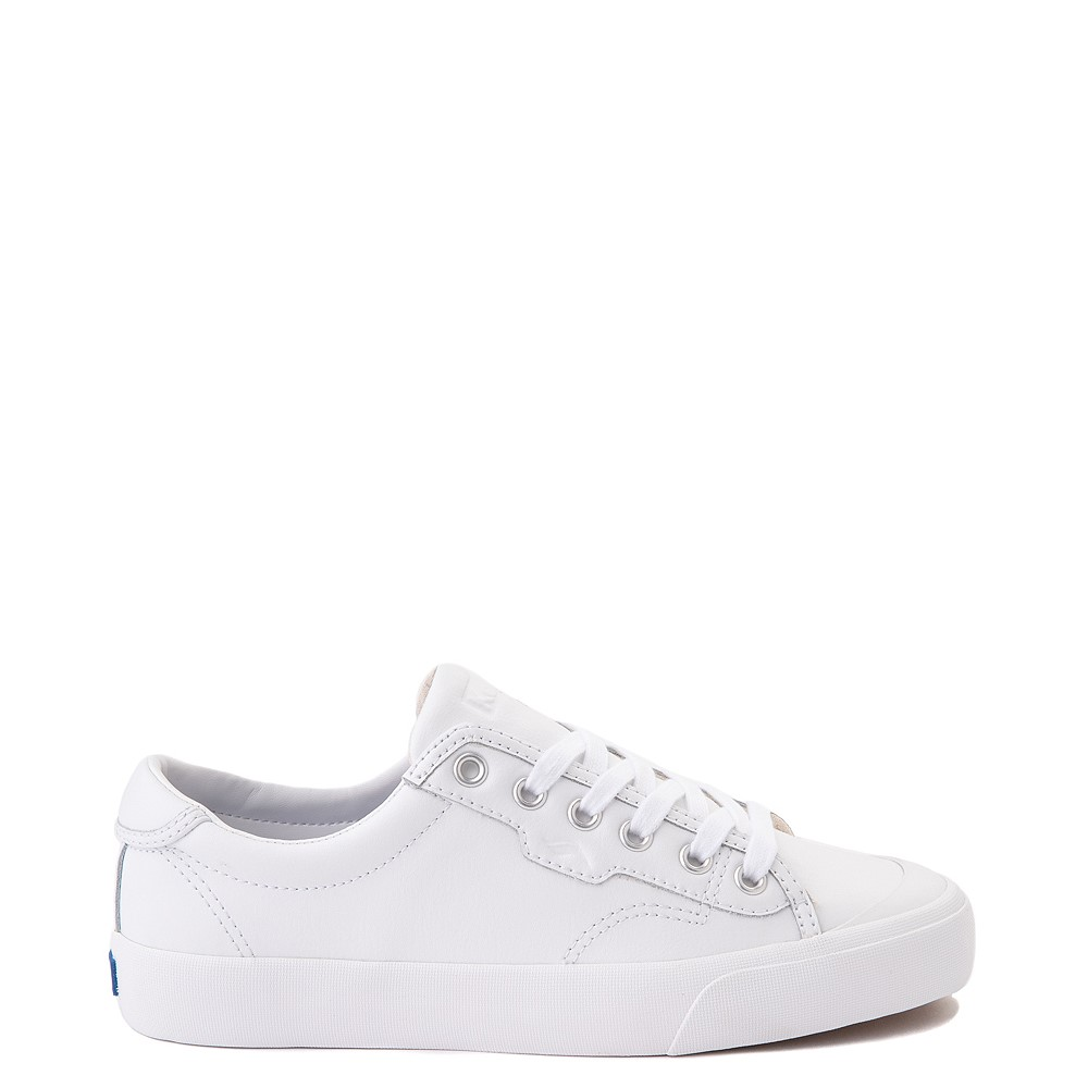 Womens Keds Crew Kick 75 Leather Casual Shoe - White