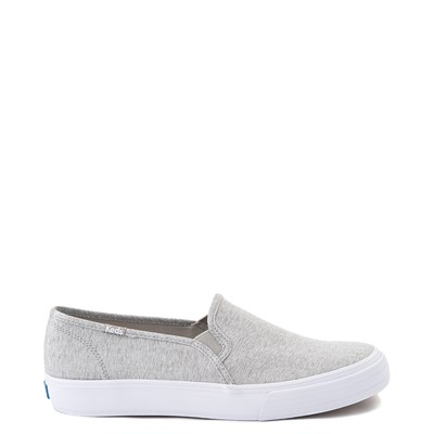 Main view of Womens Keds Double Decker Slip On Jersey Knit Casual Shoe - Heather Gray