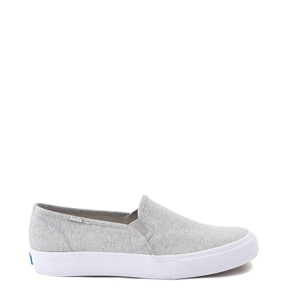 Womens Keds Double Decker Slip On Jersey Knit Casual Shoe - Heather Gray