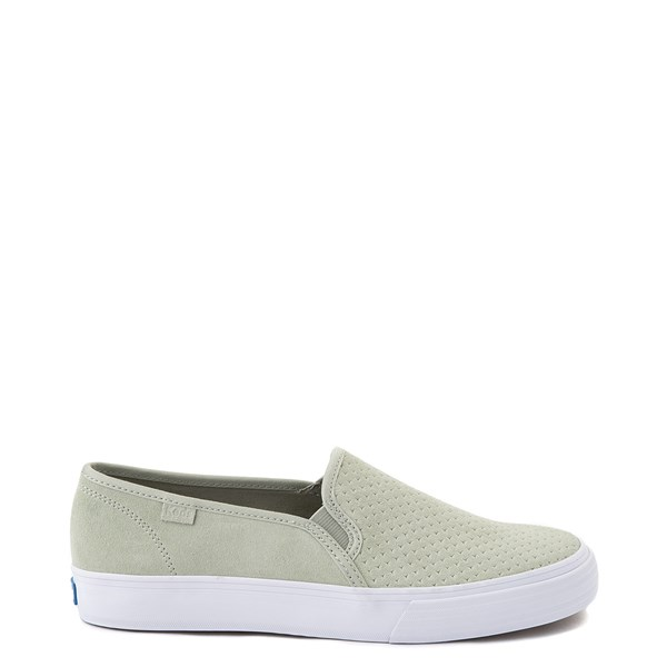 Main view of Womens Keds Double Decker Slip On Perf II Suede Casual Shoe - Sage