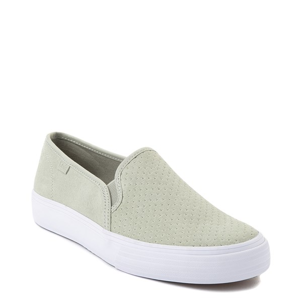 Alternate view of Womens Keds Double Decker Slip On Perf II Suede Casual Shoe - Sage