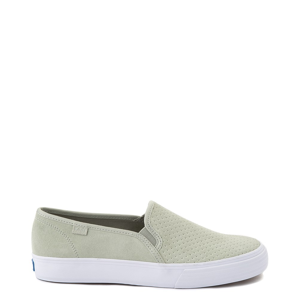 Womens Keds Double Decker Slip On Perf II Suede Casual Shoe - Sage