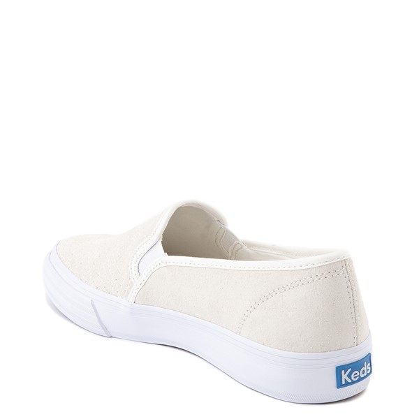 alternate view Womens Keds Double Decker Slip On Suede Perf Casual Shoe - CreamALT1
