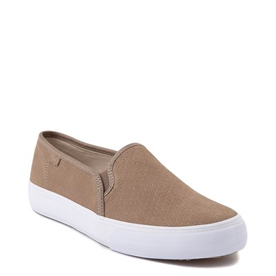 Alternate view of Womens Keds Double Decker Slip On Suede Perf Casual Shoe - Taupe