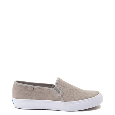 Main view of Womens Keds Double Decker Slip On Suede Perf Casual Shoe - Gray