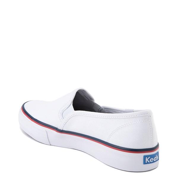 alternate view Womens Keds Double Decker Slip On Casual Shoe - WhiteALT2