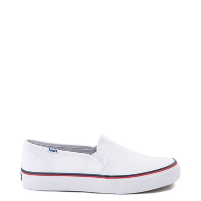 Main view of Womens Keds Double Decker Slip On Casual Shoe - White
