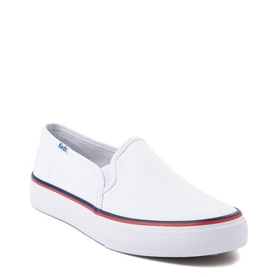 Alternate view of Womens Keds Double Decker Slip On Casual Shoe - White