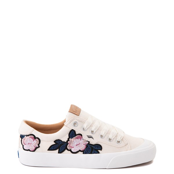 Womens Keds Crew Kick 75 Applique Casual Shoe - Natural