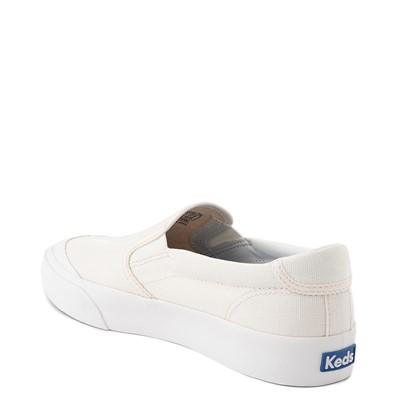 Alternate view of Womens Keds Crew Kick 75 Canvas Slip On Casual Shoe - White