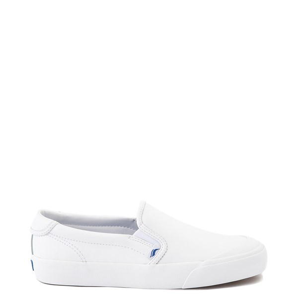 Main view of Womens Keds Crew Kick 75 Leather Slip On Casual Shoe - White