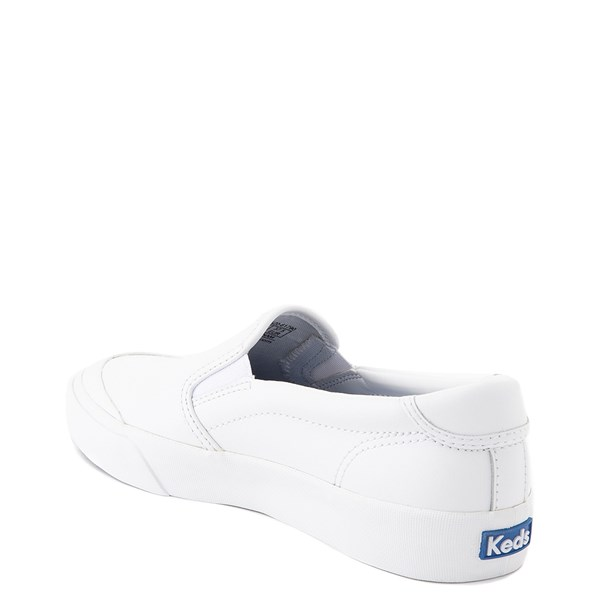 alternate view Womens Keds Crew Kick 75 Leather Slip On Casual Shoe - WhiteALT2