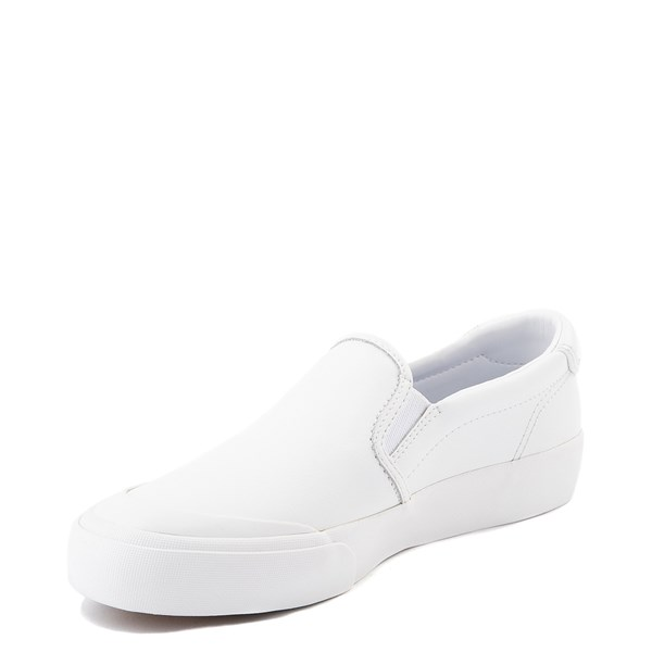 alternate view Womens Keds Crew Kick 75 Leather Slip On Casual Shoe - WhiteALT3