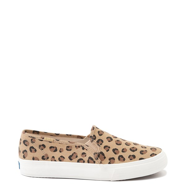 Main view of Womens Keds Double Decker Slip On Casual Shoe - Leopard