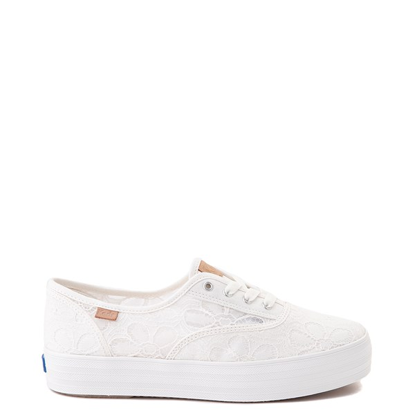 Womens Keds Champion Triple Platform Casual Shoe - Beige
