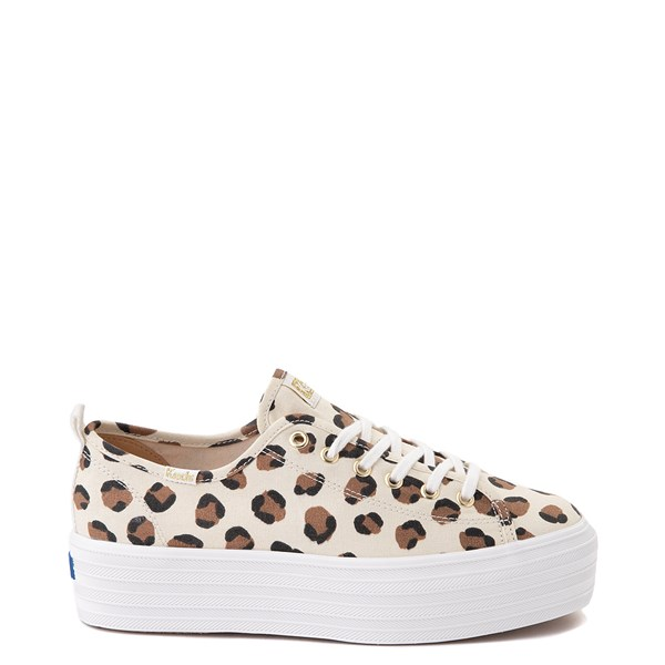 Womens Keds Triple Up Platform Casual Shoe - Leopard / Cream