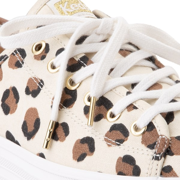 alternate view Womens Keds Triple Up Platform Casual Shoe - Leopard / CreamALT1B