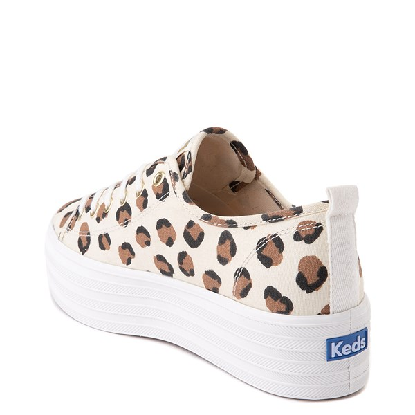 alternate view Womens Keds Triple Up Platform Casual Shoe - Leopard / CreamALT2