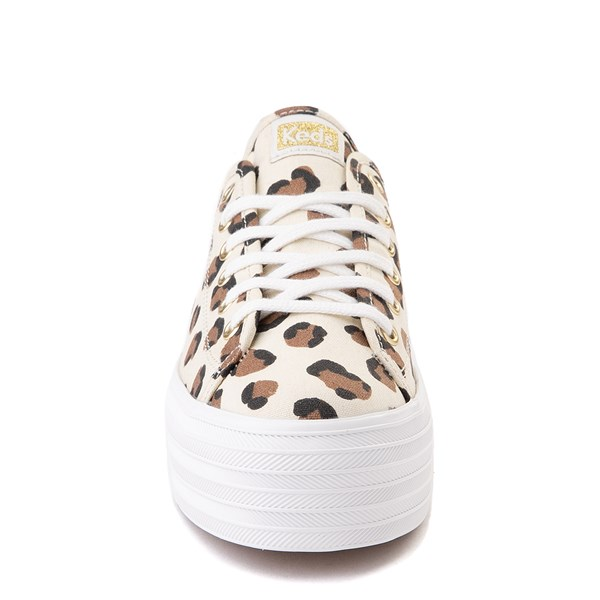 alternate view Womens Keds Triple Up Platform Casual Shoe - Leopard / CreamALT4