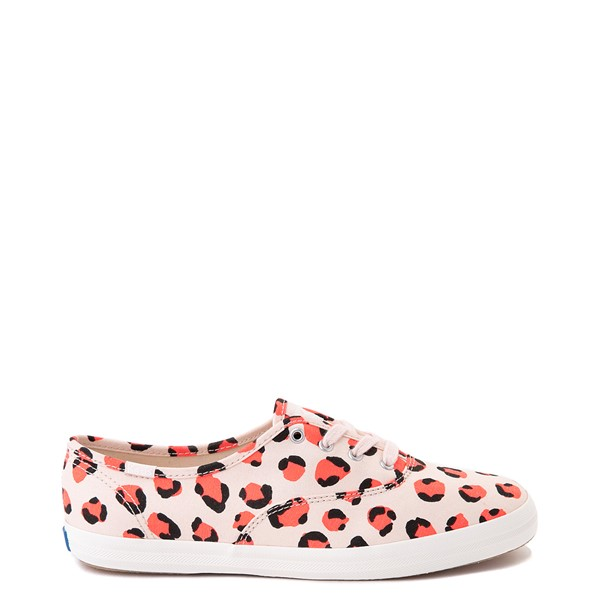 Womens Keds Champion Original Casual Shoe - Leopard / Pink