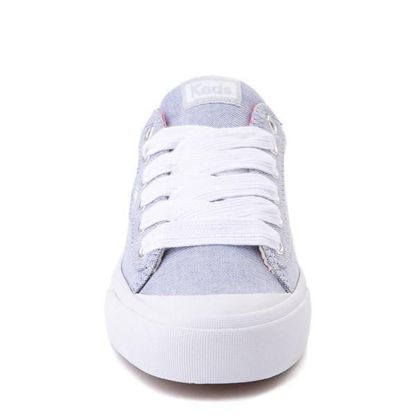 alternate view Womens Keds Crew Kick 75 Casual Shoe - Light Blue / Neon PinkALT4