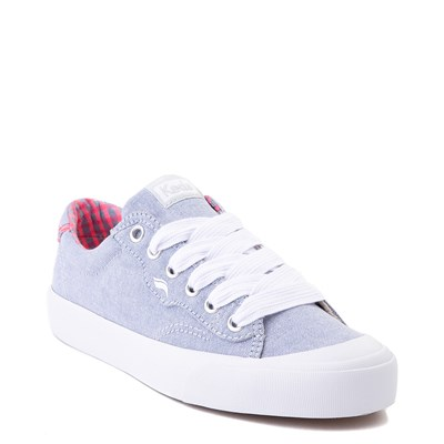 Alternate view of Womens Keds Crew Kick 75 Casual Shoe - Light Blue / Neon Pink
