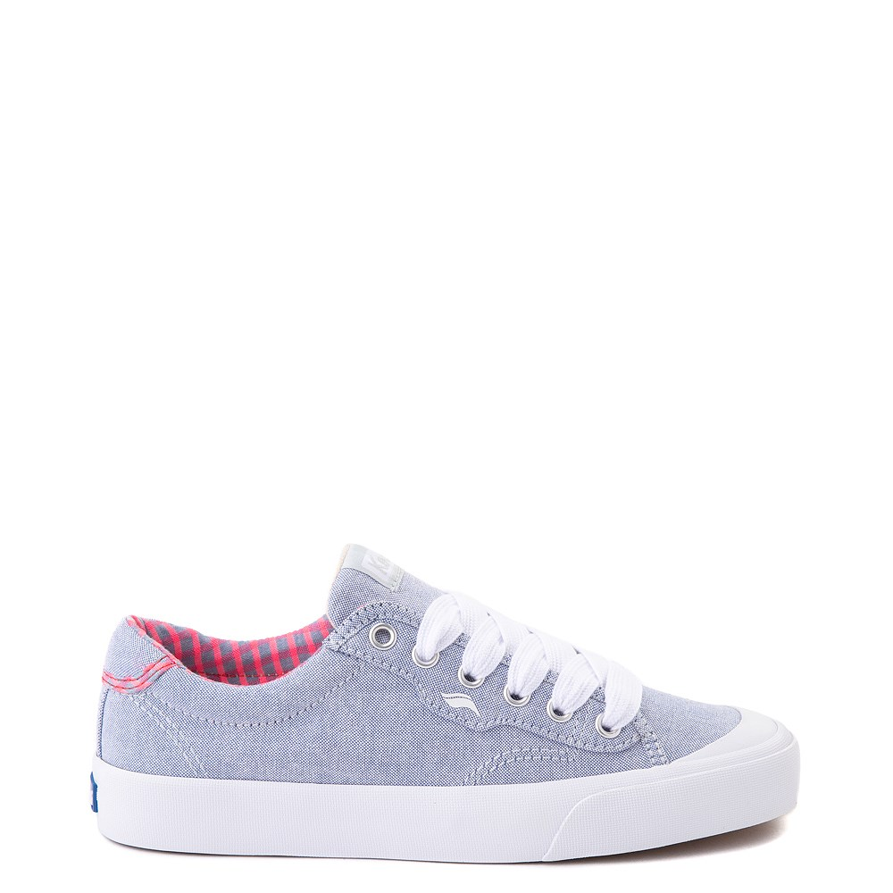 Womens Keds Crew Kick 75 Casual Shoe - Light Blue / Neon Pink