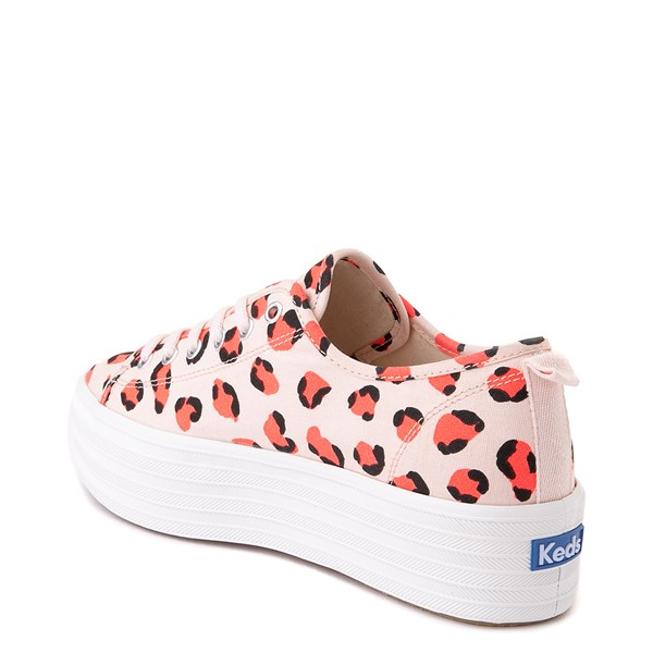 alternate view Womens Keds Triple Up Platform Casual Shoe - Leopard / PinkALT2