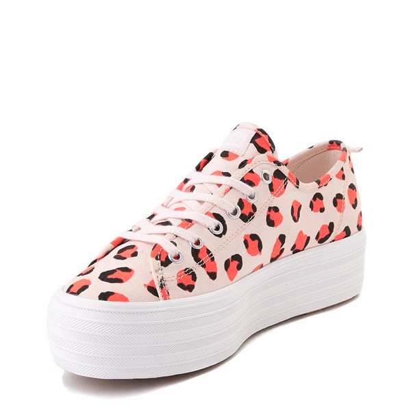 alternate view Womens Keds Triple Up Platform Casual Shoe - Leopard / PinkALT3