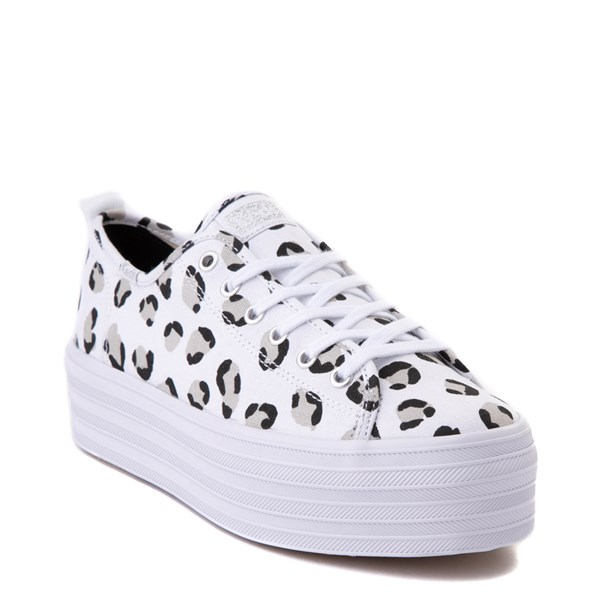 Alternate view of Womens Keds Triple Up Platform Casual Shoe - White / Leopard