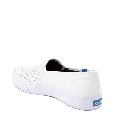 Alternate view of Womens Keds Double Decker Slip On Perf II Leather Casual Shoe - White