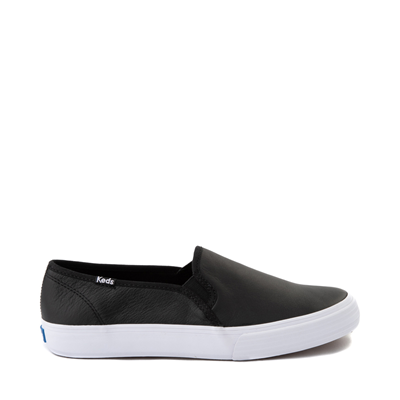 Main view of Womens Keds Double Decker Slip On Leather Casual Shoe - Black