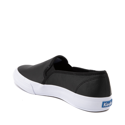 Alternate view of Womens Keds Double Decker Slip On Leather Casual Shoe - Black