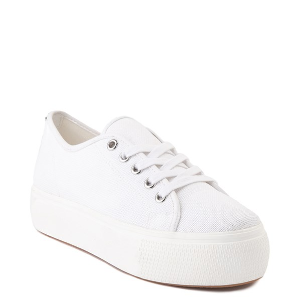 alternate view Womens Steve Madden Elore Platform Casual Shoe - White MonochromeALT1