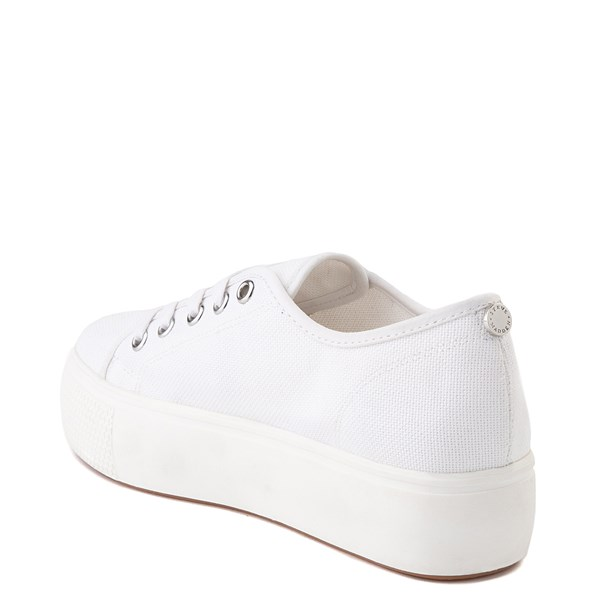 alternate view Womens Steve Madden Elore Platform Casual Shoe - White MonochromeALT2