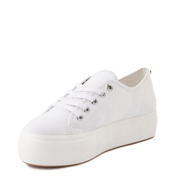 alternate view Womens Steve Madden Elore Platform Casual Shoe - White MonochromeALT3