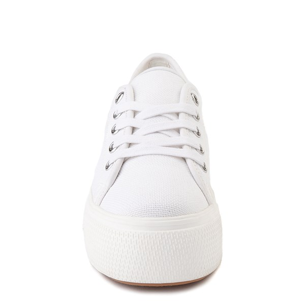 alternate view Womens Steve Madden Elore Platform Casual Shoe - White MonochromeALT4