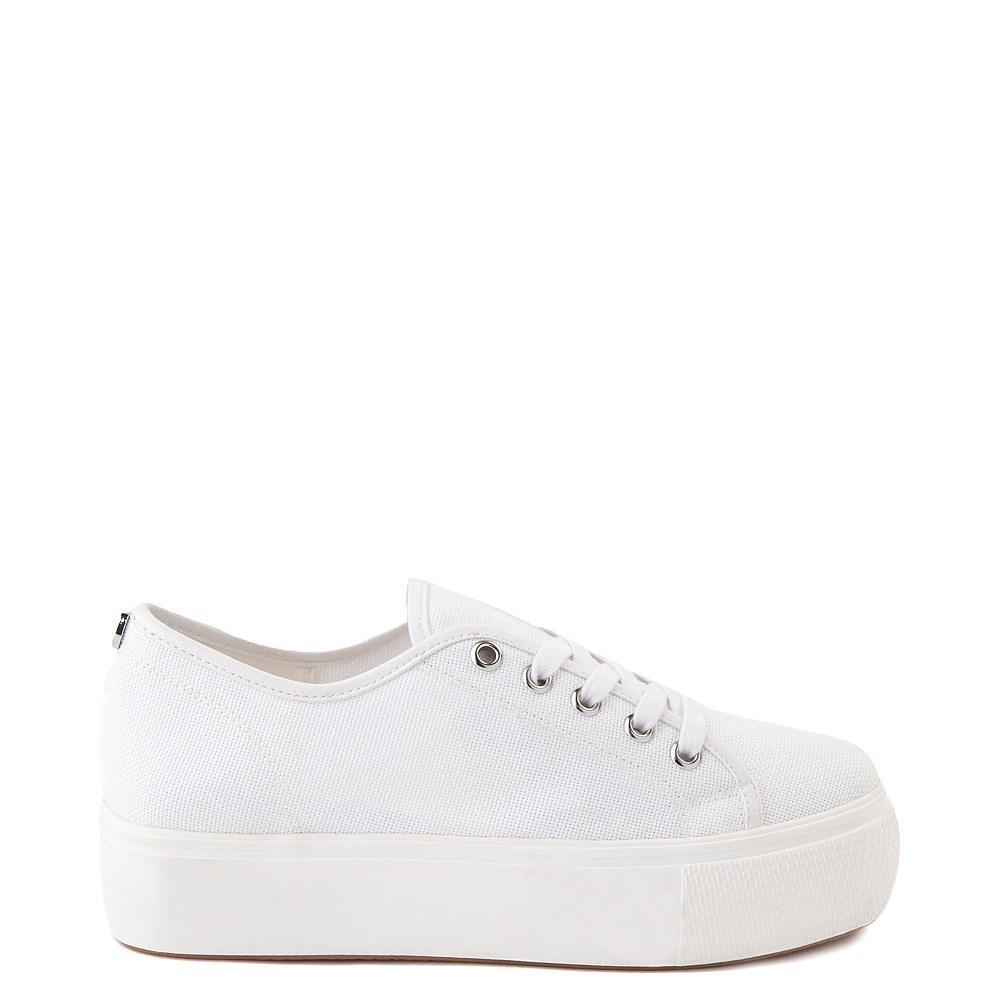 Womens Steve Madden Elore Platform Casual Shoe - White Monochrome