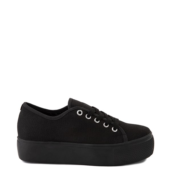 Womens Steve Madden Elore Platform Casual Shoe - Black Monochrome