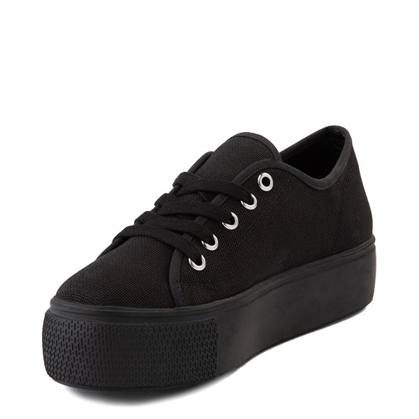 alternate view Womens Steve Madden Elore Platform Casual Shoe - Black MonochromeALT3