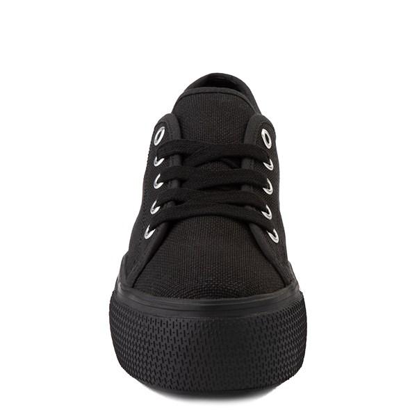 alternate view Womens Steve Madden Elore Platform Casual Shoe - Black MonochromeALT4
