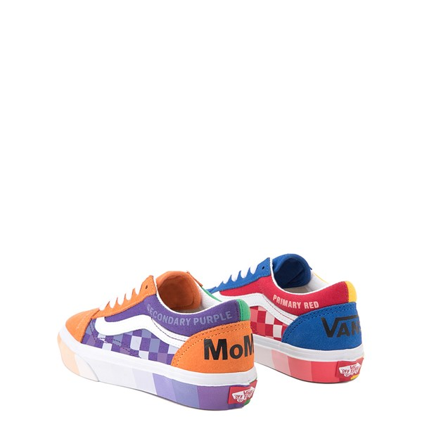 alternate view Vans x MoMA Old Skool Color Wheel Checkerboard Skate Shoe - Little Kid - MulticolorALT2